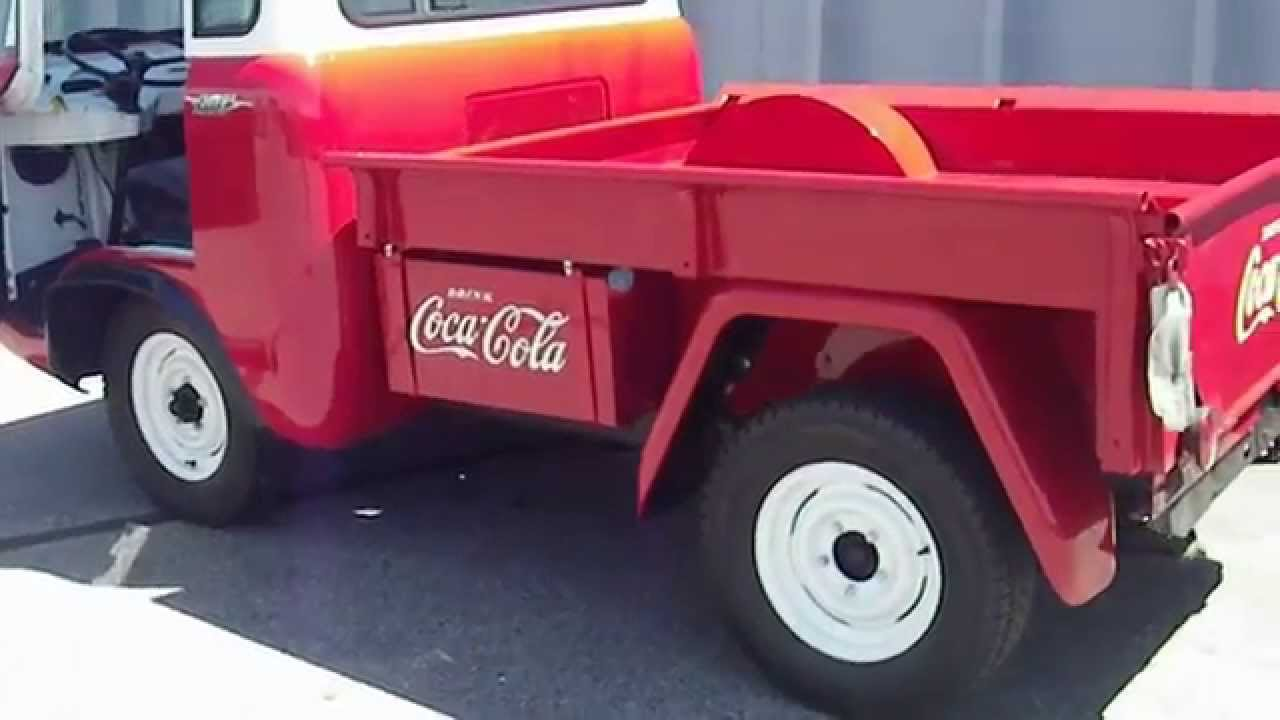 1957 Willys Jeep Forward Control Fc 150 4x4 Coca Cola Delivery Truck 1950 Pick Up