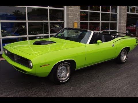 1970 Plymouth Cuda 572 Hemi Convertible Muscle Car Youtube