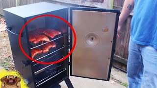UNBOXING!! a Masterbuilt Electric Smoker and COOKING!!!