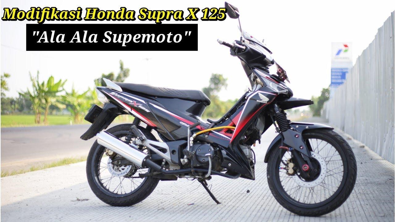 Honda Supra X 125 Modifikasi Ala Ala Supermoto Youtube