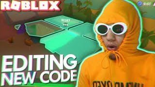 Trying the NEW EDITING UPDATE in ROBLOX ISLAND ROYALE (NEW CODES)