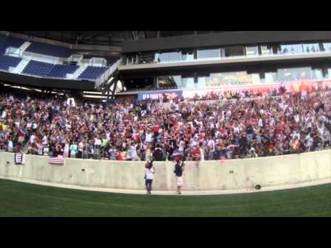 John Brooks' Match Winning Goal Celebration from Red Bull Arena