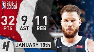 Blake Griffin Full Highlights Pistons vs Heat 2019.01.18 - 32 Pts, 9 Ast, 11 Rebounds!