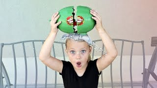 EXPLODING Watermelon Smash Toy Challenge!