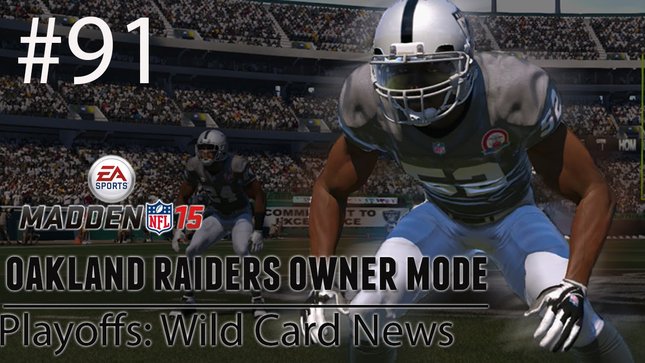 [PS4] Madden 15: Raiders Connected Franchise – Playoffs: Wild Card News [HD 1080P]