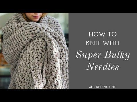 Knit Pro JUMBO knitting needles giant large extreme various sizes Wood Birch