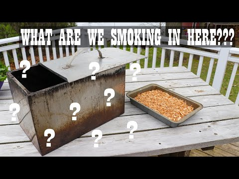 Smoking White Fish In A Smoker Box From The 50s
