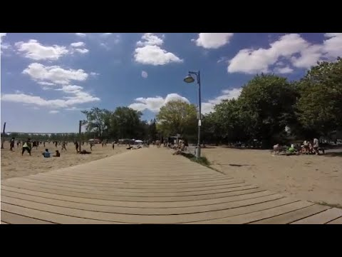 Cycling the Eastern Beach  -Toronto,Ontario,Canada