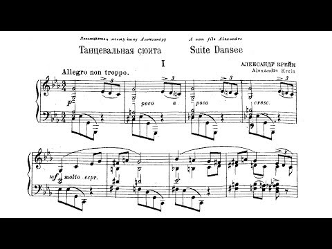 A. Krein - Suite dansée, Op. 44 (Jascha Nemtsov, piano)