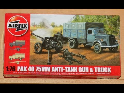 Airfix Opel Blitz and Pak 40 1 76th Scale Inbox Review