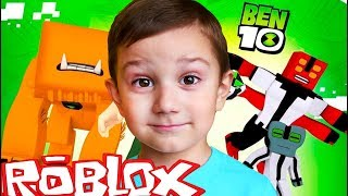 ROBLOX BEN10 Превращаемся во всех пришельцев Funny let s play on DiDiSHKi PLAY