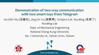 Demonstration of two-way communication with two smart toys from Telegram