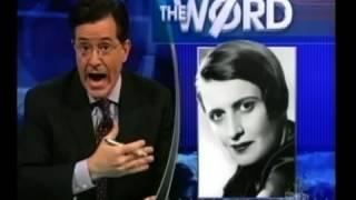 Stephen Colbert vs Ayn Rand?