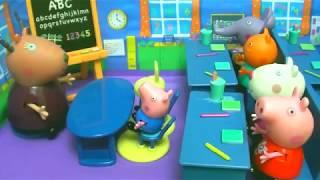 Мультфильм игрушками Свинка Пеппа Свинка Pig Школьные будни