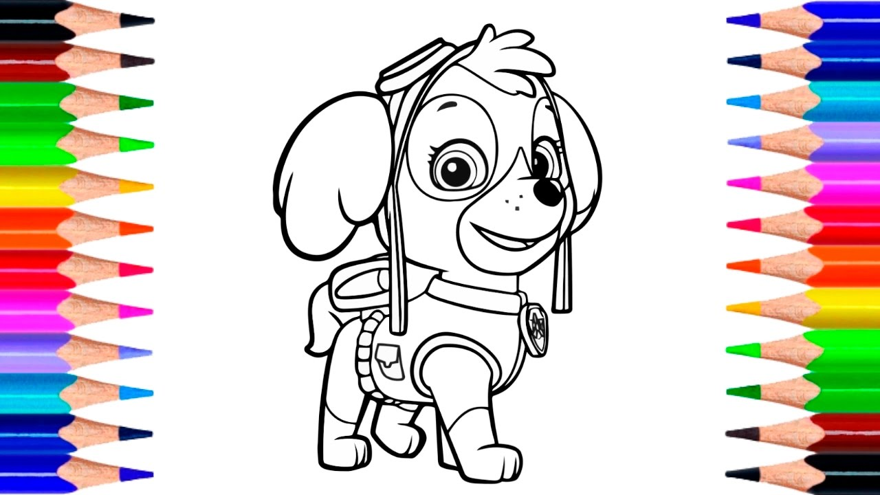 Paw Patrol Skye Coloring Pages | How to Draw Skye with ...