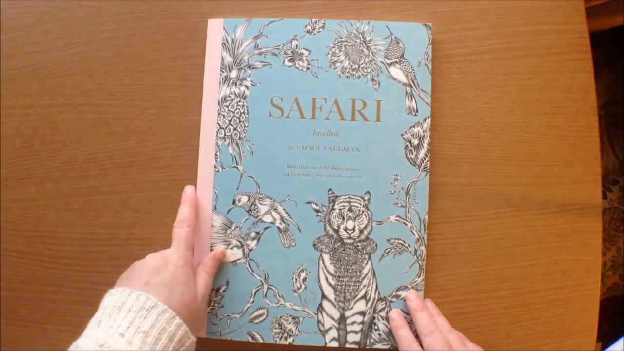 Safari by Emma Fallman Swedish Tavelbok (Artist Edition) Colouring ...