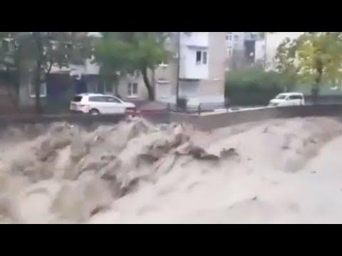 Наводнение в Туапсе Краснодарский край 2018. (+видео от очевидцев) Новости России сегодня 2018.