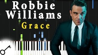 Robbie Williams - Grace [Piano Tutorial] Synthesia | passkeypiano