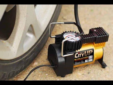 Авто компрессор - насос CityUP [обзор и распоковка]