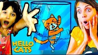ВАЛЕРИ СПАСАЕТ КОТЕНКА с МАМОЙ в Hello Cats Валеришка Для Детей kids children