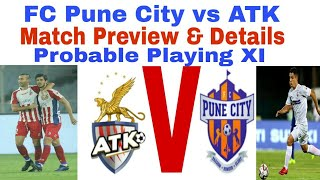 ATK vs FC Pune City Match Preview & Details with Playing XI