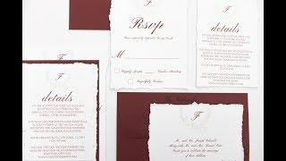 DIY Torn Edging Invitations - Deckled Edging - Ripped Invitation  - Wedding Invitations