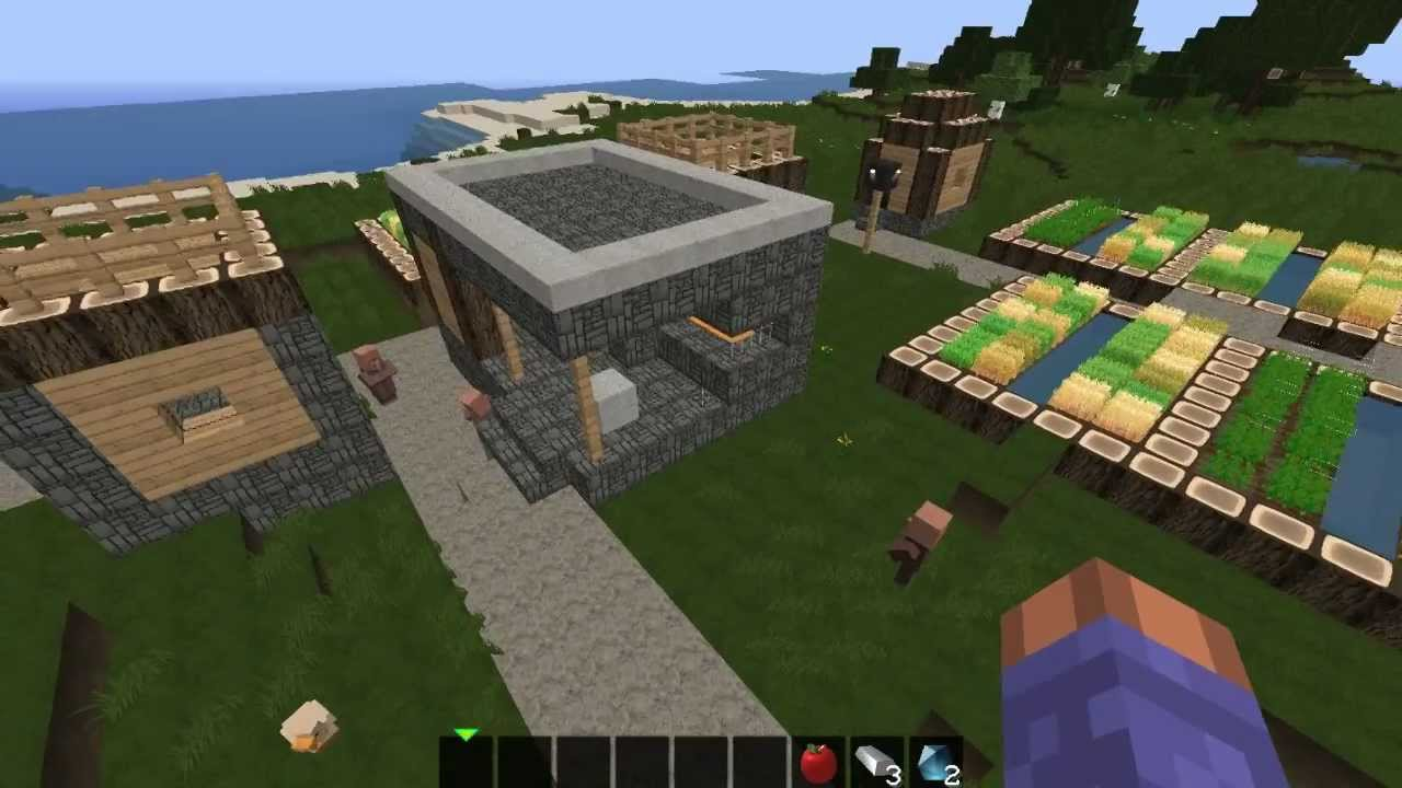 Amazing flat land, npc village, desert temple Minecraft seed