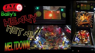 #962 Bally HEAVY METAL MELTDOWN Pinball Machine - TNT Amusements