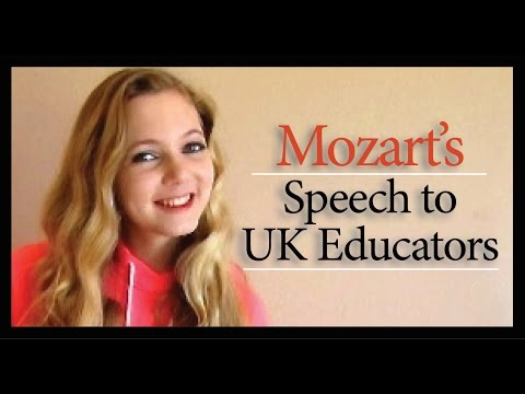 Teen Mozart's Speech At NAACE To 250+ UK Educators About Worldschooling