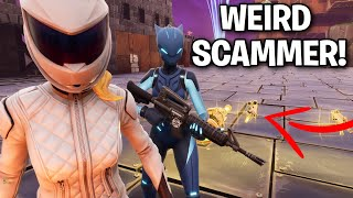 Worlds Weirdest Scammer Scams Himself! 🤣 w/Nogo (Scammer Get Scammed) Fortnite Save The World