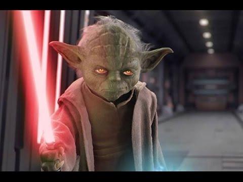 Evil Yoda Red Lightsaber Part 1 Youtube