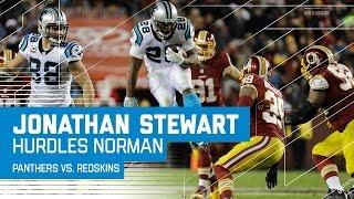 Jonathan Stewart Hurdles Josh Norman! | Panthers vs. Redskins | NFL Week 15 Highlights