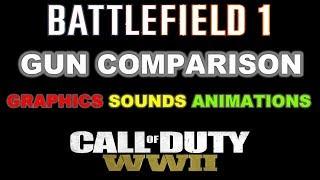 Battlefield 1 VS Call Of Duty WW2 GUN COMPARISON - GRAPHICS SOUNDS ANIMATIONS 1440P60FPS