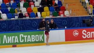 Камила Валиева Тренировка Александра Трусова с тренерами Плющенко и Михайловым