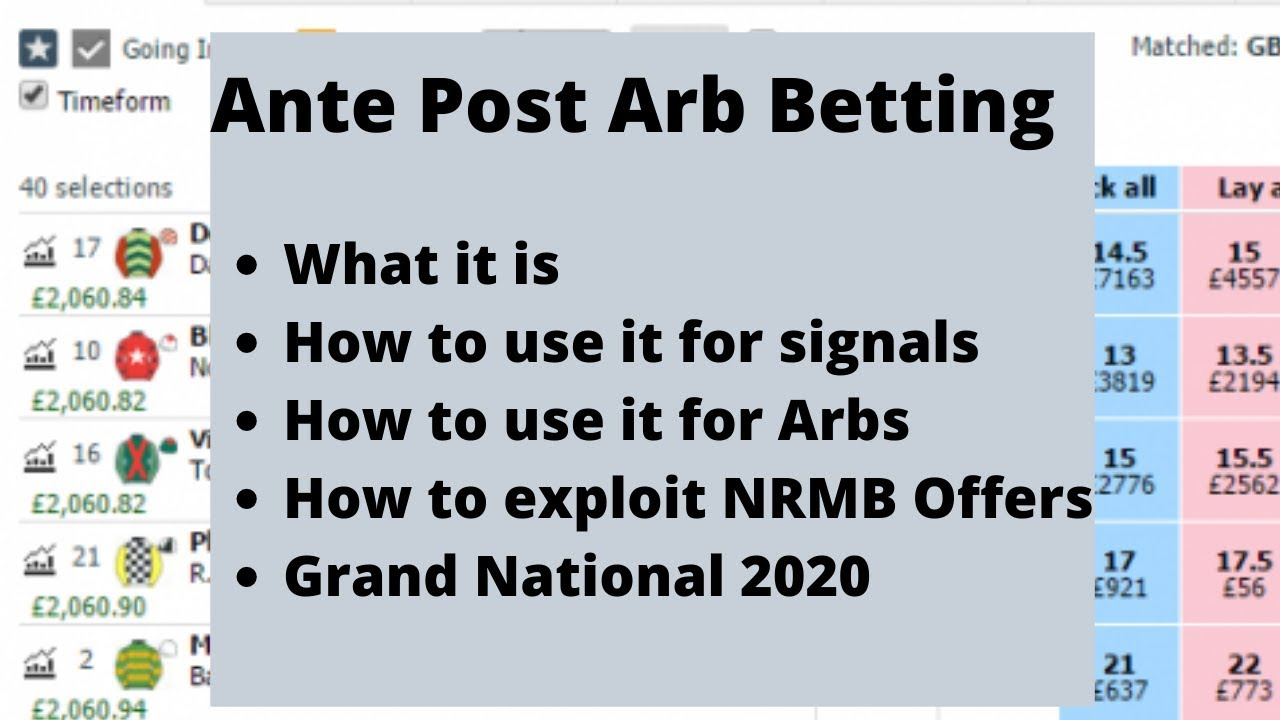 Ante post betting non runners how to invest in sports betting