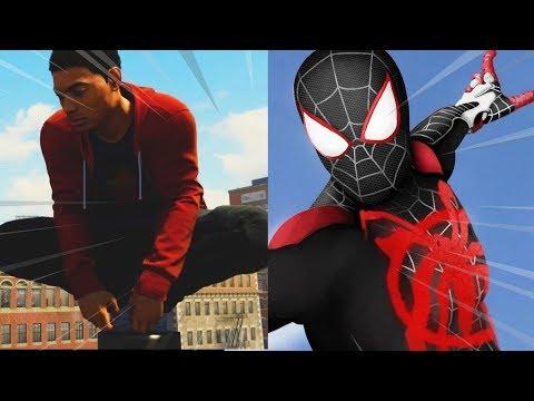 MOD DO MILES MORALES NO MODO LIVRE, Bizarro demais! - Marvel's Spider-Man PS4