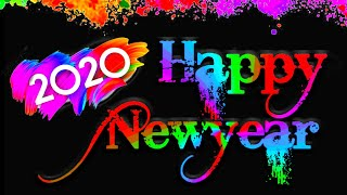 Happy New year 2020 How to make new year 2020 Greetings with android mobile NewYear