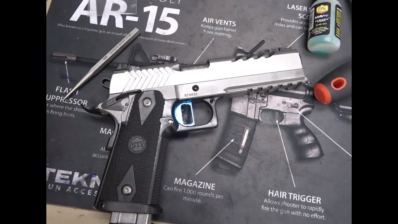 Custom 2011 Handgun 100 Round Disassembly and Cleaning (STI, Rogue Tactical, Heavy Armor Division)