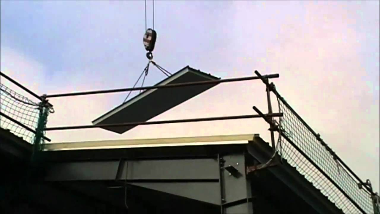 Vacuum Cladding Lifter For Composite Roof Panels Youtube