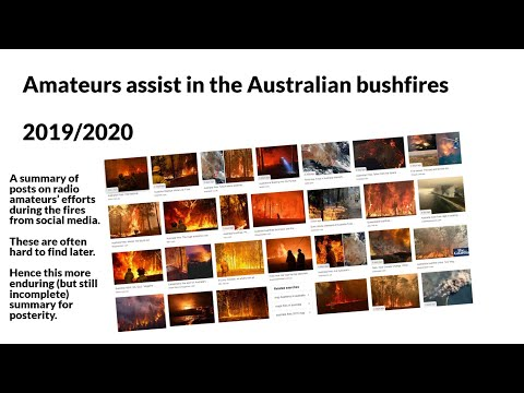 VK Amateurs Assist In The Australian Bushfires 2019 - 2020