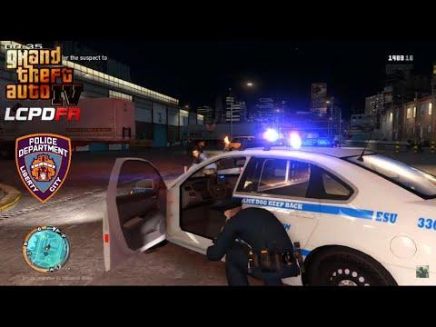 GTA IV - LCPDFR 1.1 - LCPD/NYPD - Bronx Patrol/Large Shootout -4K