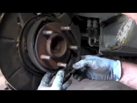 dodge caravan rear wheel bearing  backing plate removal