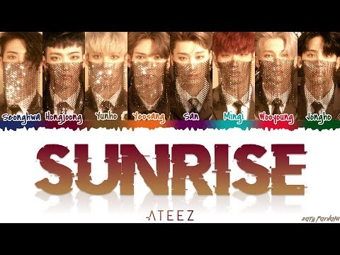 ATEEZ (에이티즈) - 'SUNRISE' Lyrics [Color Coded_Han_Rom_Eng]