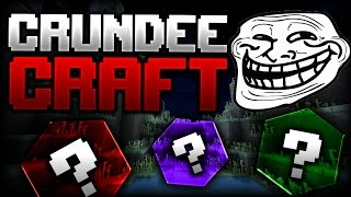 Minecraft: THE INVISIBLE BLOCK TROLL | CRUNDEE CRAFT