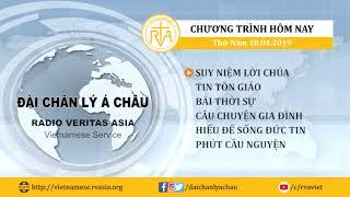 CHƯƠNG TRÌNH PHÁT THANH, THỨ NĂM 18/04/2019