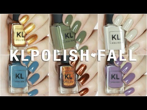 NEW KL Polish 70s Vibes Fall 2017 Collection Swatches + Review AND DUPES!