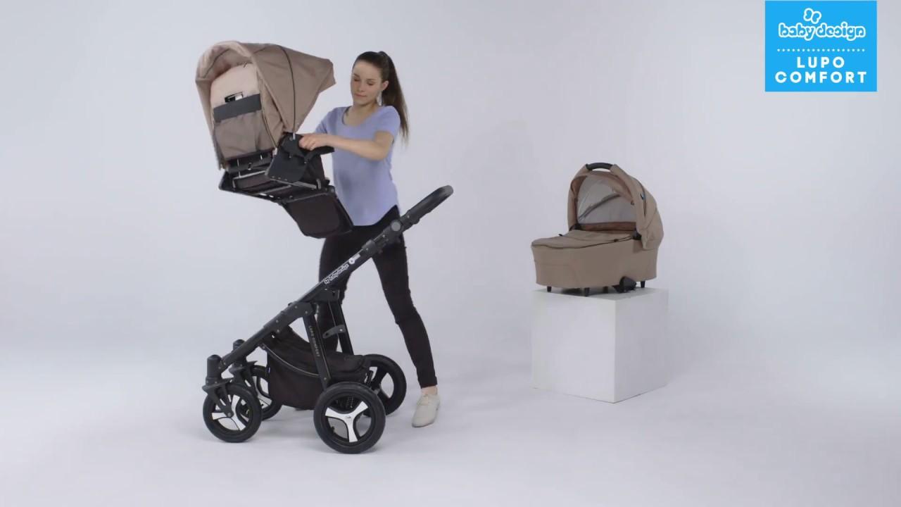 Baby Design   Baby Design Lupo Comfort Universalnaya Detskaya Kolyaska 2 V 1 Lupo