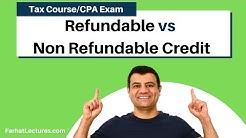 Tax Credit Versus Tax Deduction | Refundable versus non refundable credit | Income Tax course