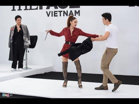 Minh Hằng cởi áo nhảy tình tứ cùng thí sinh The Face
