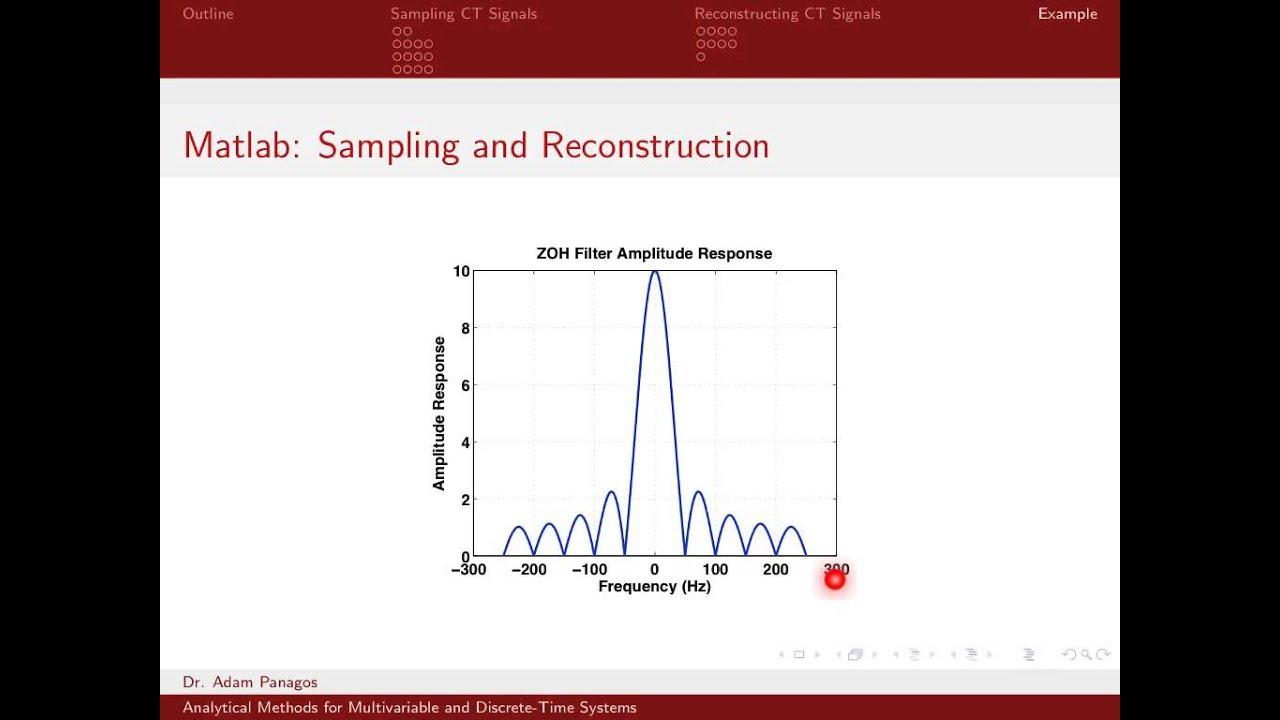Sampling Signals (13/13) - Sampling and Reconstructing Signals In ...